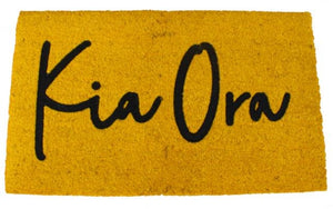 Kia Ora Doormat - Yellow