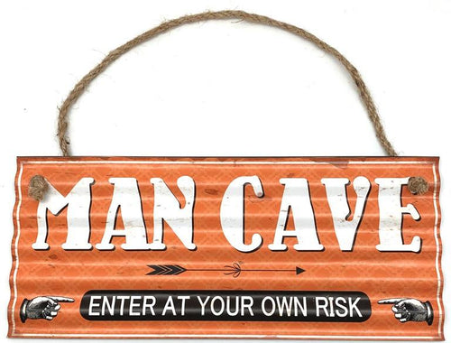 Hanging Man Cave Sign