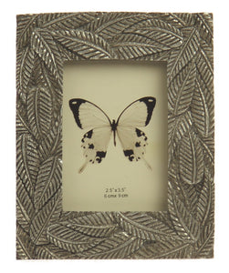 Fern Leaves Photo Frame - Champagne