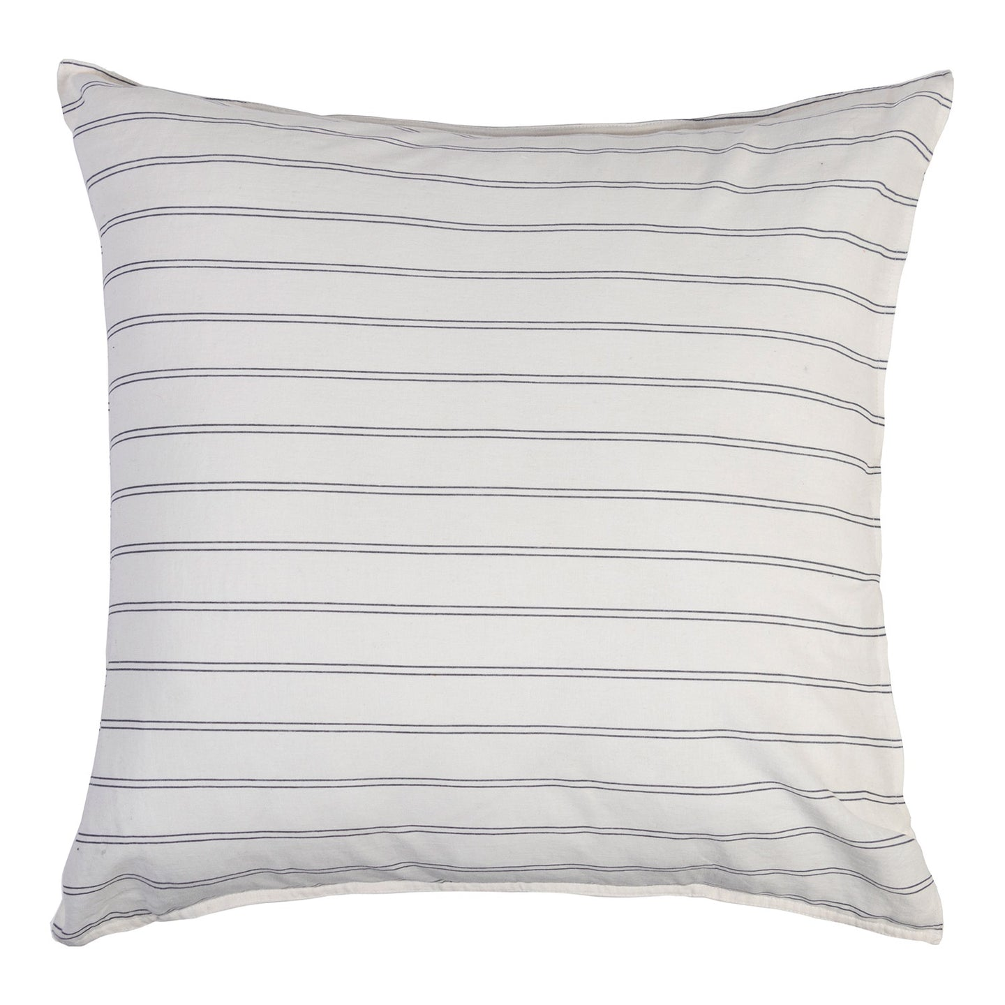 Stripe Linen Blend Euro Covers - Pair