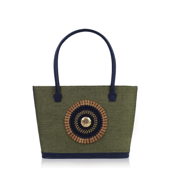 Green Tote Bag - Safari