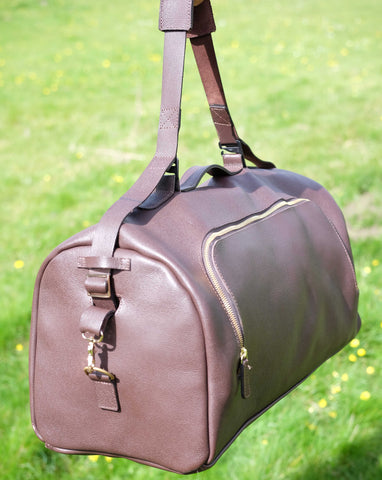 Singletrack Men's Leather Weekender - Brown