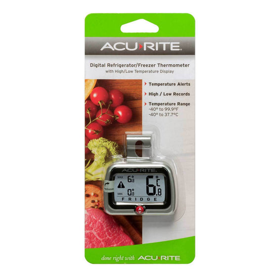Acurite Digital Compact Fridge & Freezer Thermometer