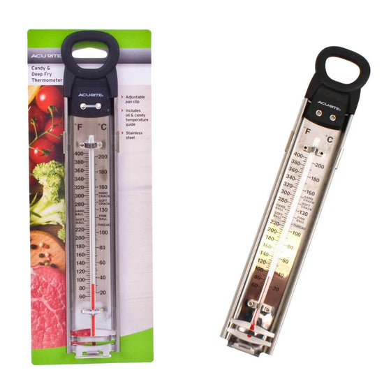 Acurite Stainless Steel Deluxe Candy Deep Fry Thermometer