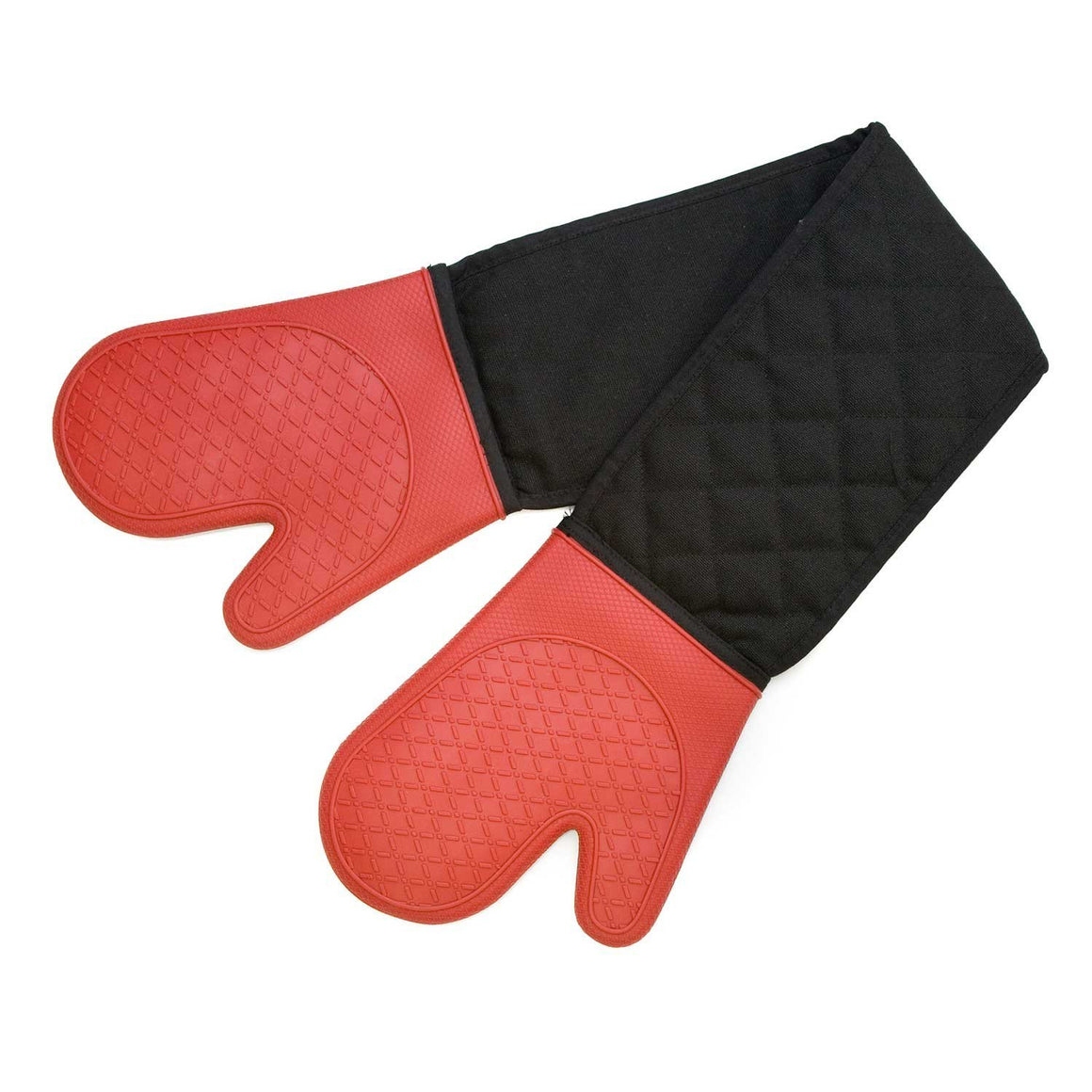 Cuisena Silicone & Fabric Double Oven Glove Red - Stuff-n-Things