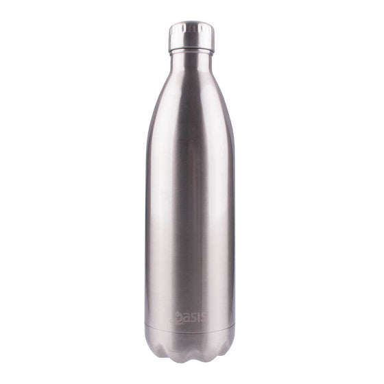 Oasis Insulated Stainless Steel Drink Bottle 1Lt Silver
