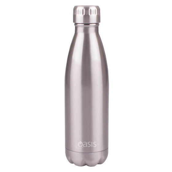 Oasis Insulated Stainless Steel Drink Bottle 500ml Silver