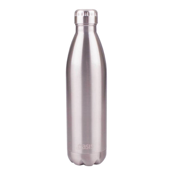 Oasis Insulated Stainless Steel Drink Bottle 750ml Silver