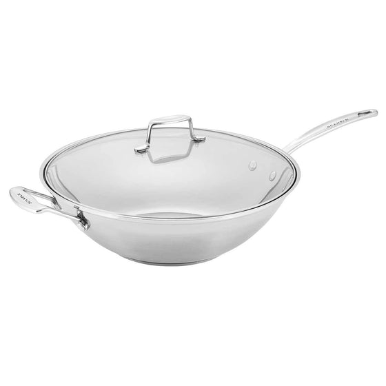 Scanpan Impact Stainless Steel 32cm Wok with Lid
