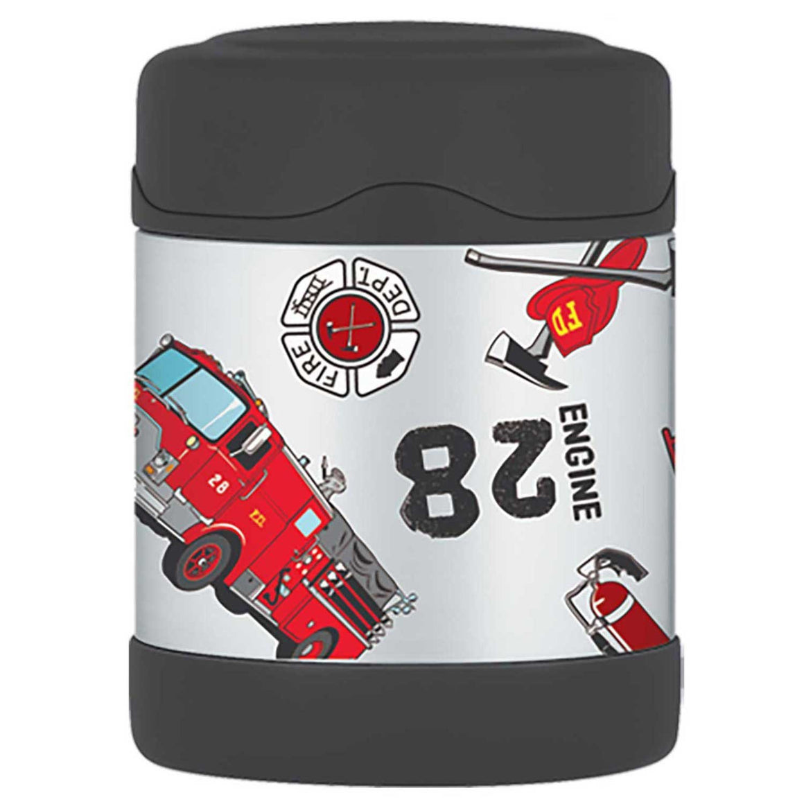 Thermos Funtainer Stainless Steel Vacuum Insulated Food Jar 290ml Fire Truck - Stuff-n-Things