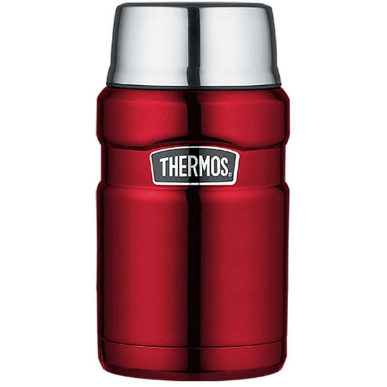 Thermos Stainless Steel King Vacuum Insulated Food Jar 710ml Red