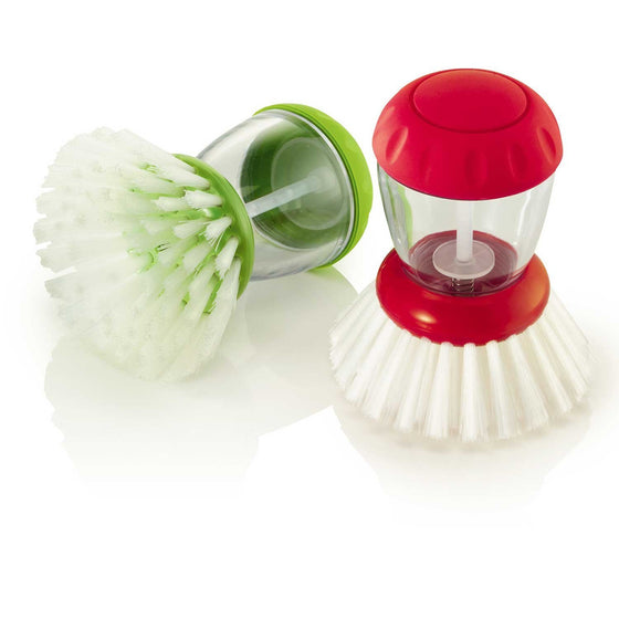 Zeal Originals Dish Brush Detergent Dispenser Red