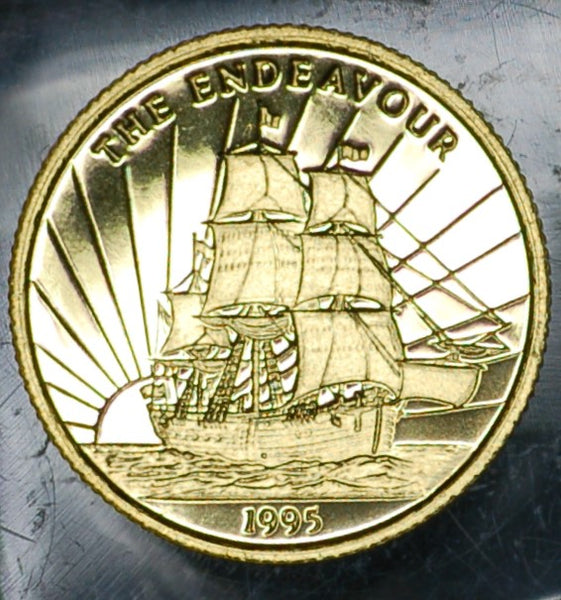 Samoa. 10 Dollars. 1995. 'The Endeavour'