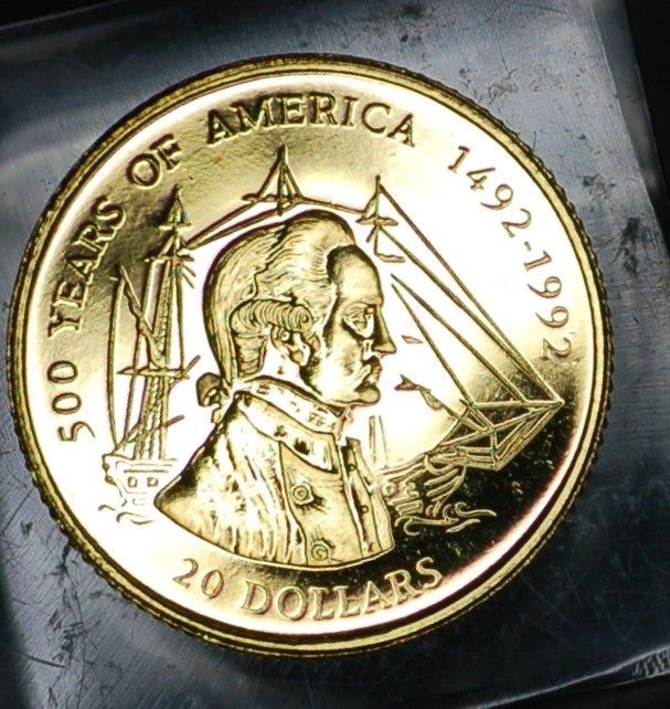 Cook Islands. 20 Dollars. 1995. '500 years of America'