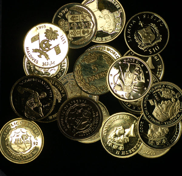 1990's gold collectors coins
