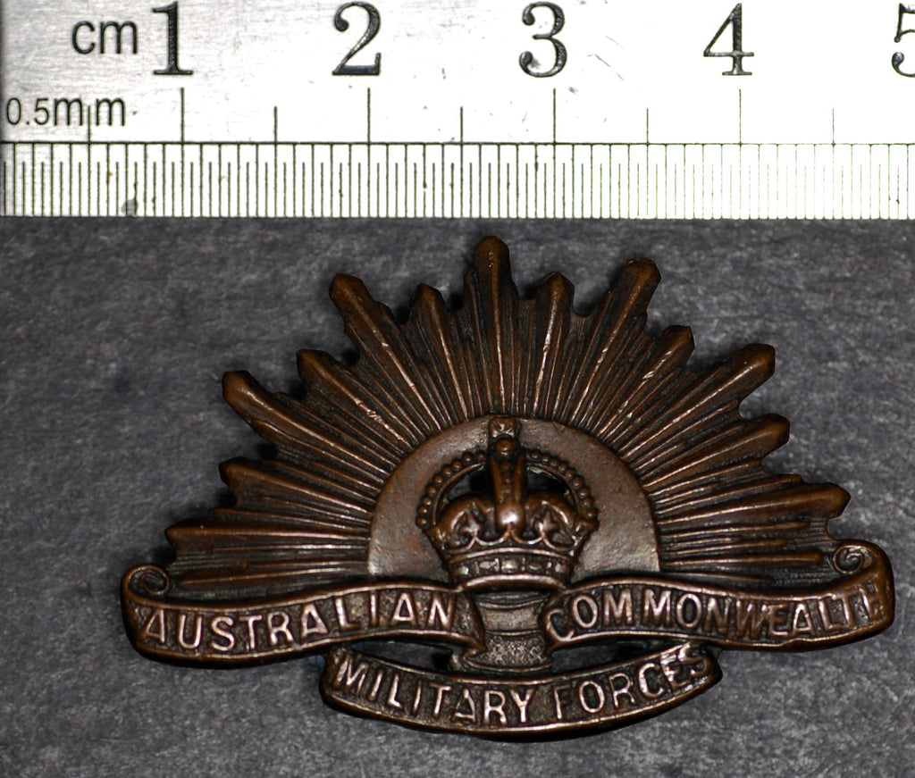 Australia and Commonwealth Forces collar badge.