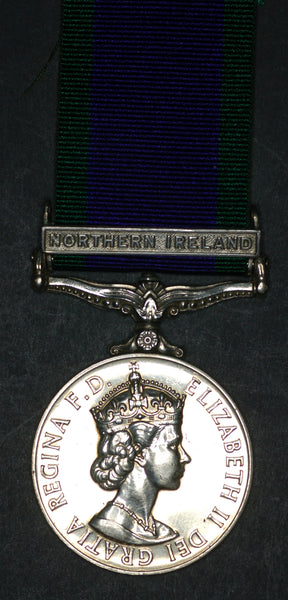 General Service Medal/CSM. Green. Royal Greenjackets.