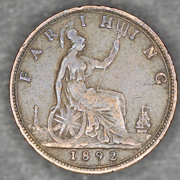 Victoria. Farthing. 1892