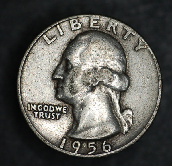 USA. Silver quarter dollar. 1956.