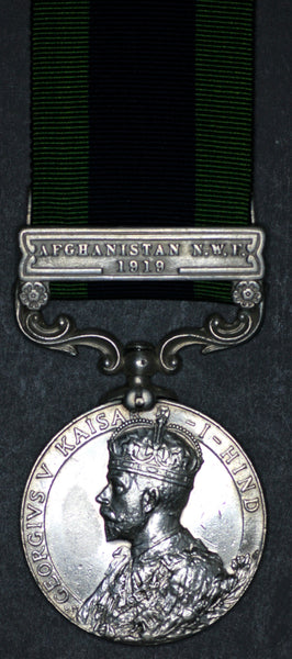India General Service Medal. Afghanistan N.W.F. 1919 clasp.