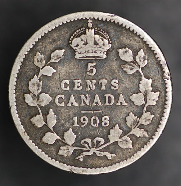 Canada. 5 cents. 1908.