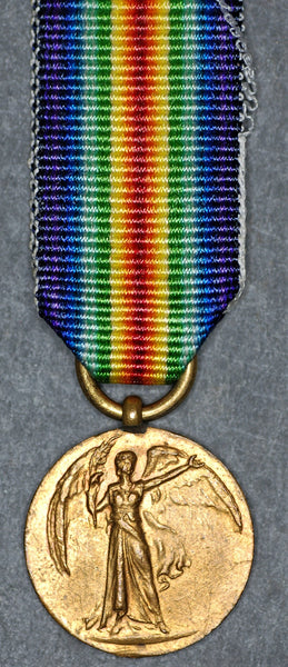 Miniature. Victory medal.