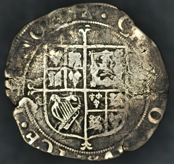 Charles 1. Shilling. MM Anchor.