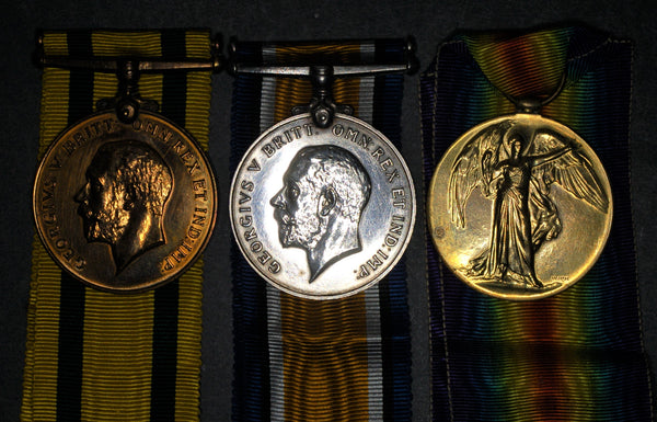 WW1. Territorial Force war medal trio. Canning. R.A.