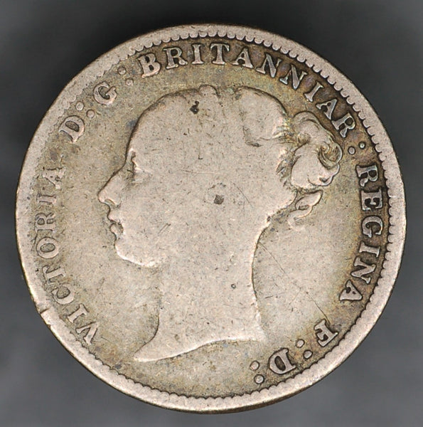 Victoria. Threepence. 1887. Young head