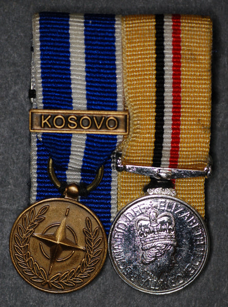 Miniature. Iraq medal (op Telic) and Nato medal Kosovo.