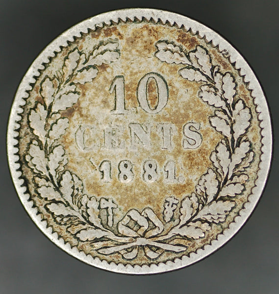 Netherlands. 10 cents. 1881