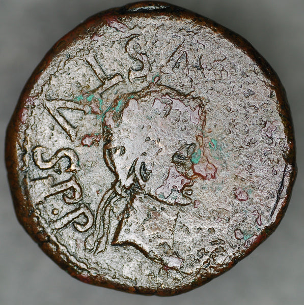 Augustus. AE27. Spain. After 2BC