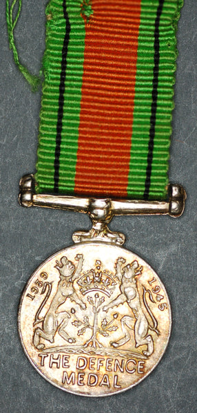 Miniature. WW2 Defence medal.