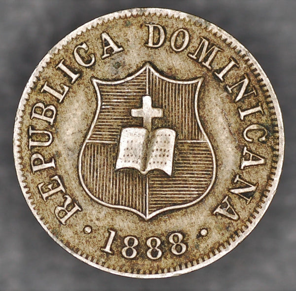 Dominican republic. 2 1/2 centavos. 1888