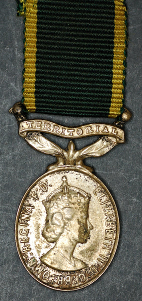 Miniature. Territorial Efficiency medal. QEII