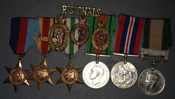 India General service/WW2 group of 6. Edwards. Royal Signals.