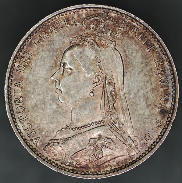 Victoria. Sixpence. 1887 (Wreath reverse)