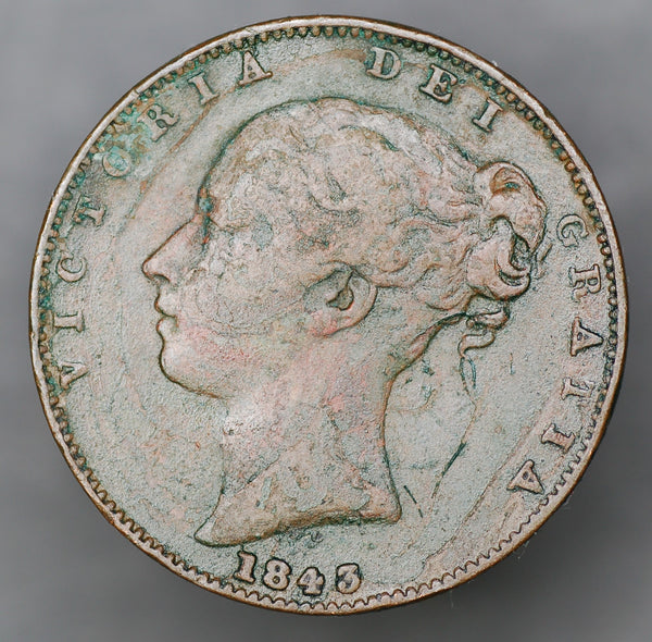 Victoria. Farthing. 1843