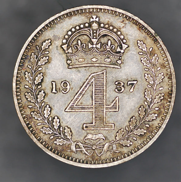 George VI. Maundy fourpence. 1937
