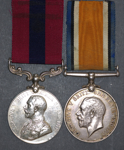 WW1. A 1918 D.C.M. pair awarded to Corporal T. Coombs, Royal Field Artillery