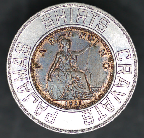 Advertising token. 'Forsyth lucky coin'