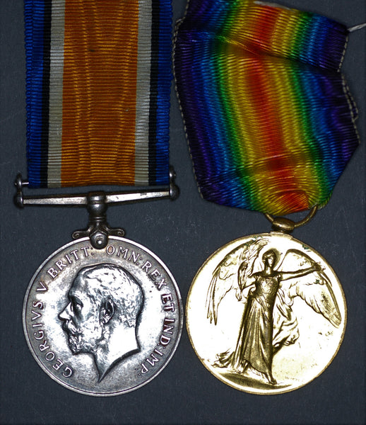 WW1. War and Victory medal pair. R.F.C/R.A.F. Newell.