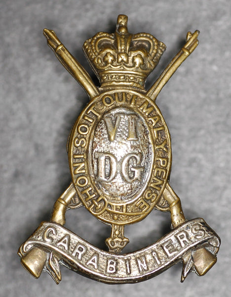 Victorian 6th Dragoon Guards Collar badge.