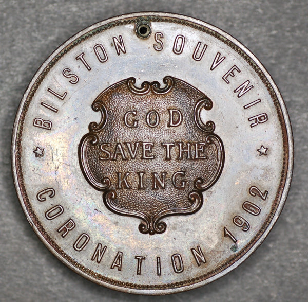 1902 coronation medallion. Bilston.