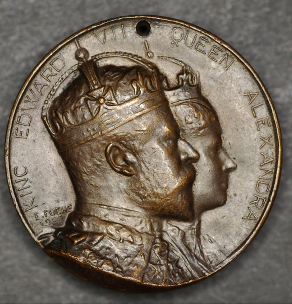 1902 coronation medal. Newcastle upon Tyne.