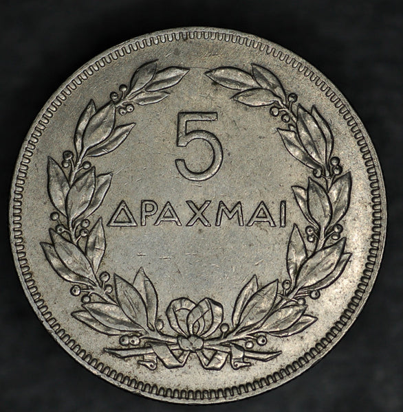 Greece. 5 Drachma. 1930.