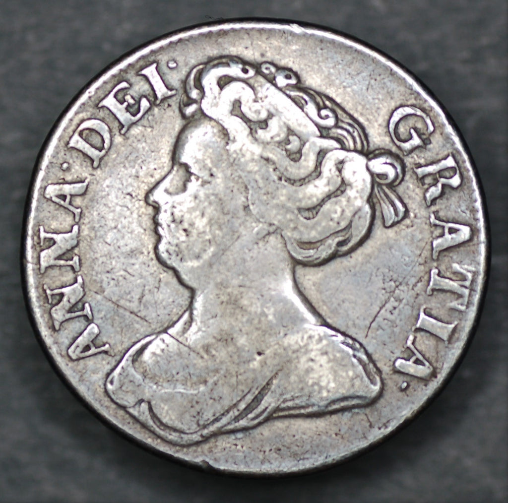 Anne. Shilling. 1711. Fourth bust,