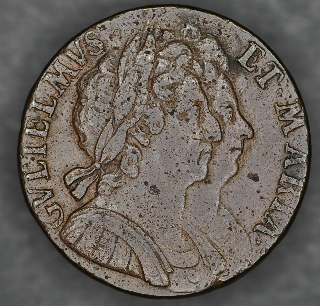 William and Mary. Halfpenny. 1694