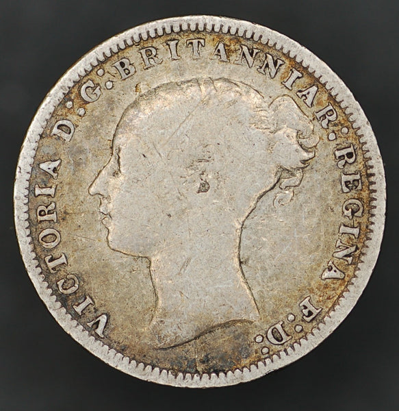 Victoria. (Young head) Threepence. 1878