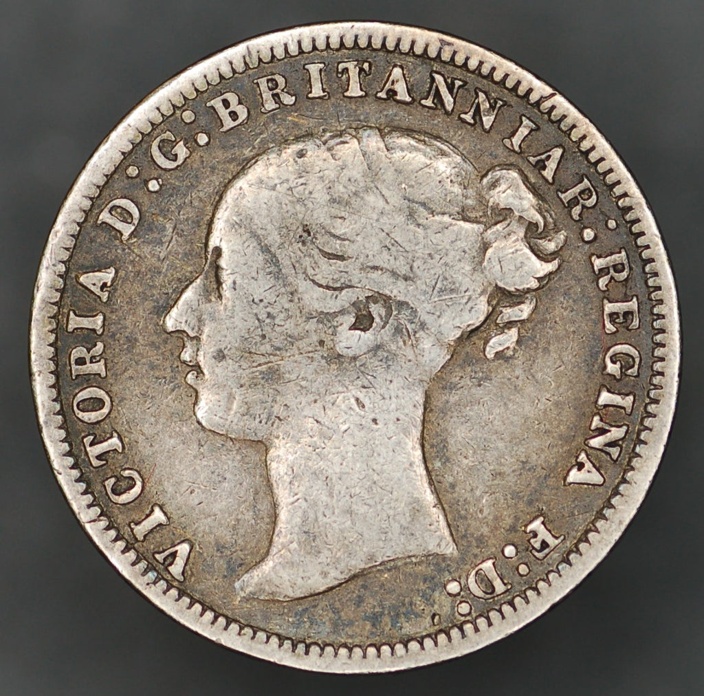 Victoria. (Young head) Threepence. 1876